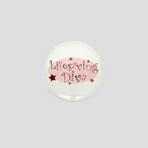 """Lifesaving Diva"" [red] Mini Button"